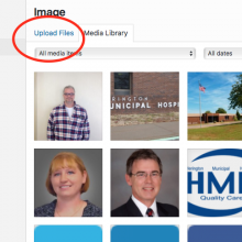 METASLIDER: Select an image from the Media Library, or click Upload Photo to upload a new image