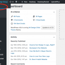 """EDITING PAGES: Navigate to the """"Front Side"""" of your website"""