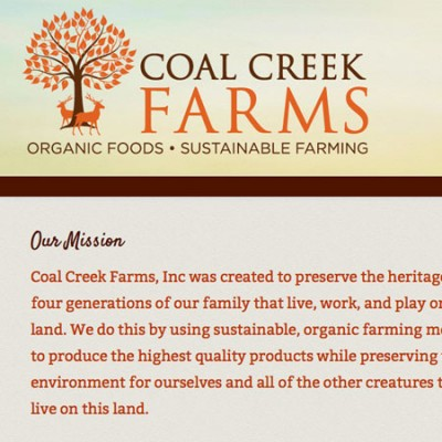 Coal Creek Farms Website