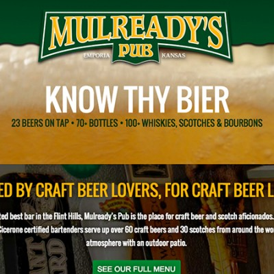 Mulready's Pub Website